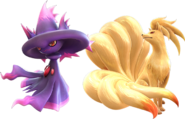 Pokken Mismagius and Ninetales