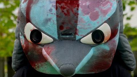 Aggressive Lucario Mascot