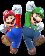 Mario and luigi 2015 render by banjo2015-d8wqk9h