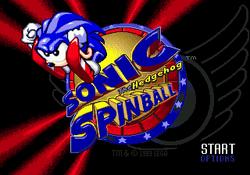 Sonic Spinball Titlescreen