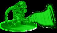 13.Gooigi using his Poltergust