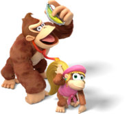 Donkey Kong and Dixie Kong - Donkey Kong Country Tropical Freeze