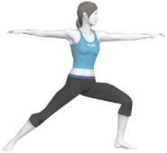 0.14.Female Wii Fit Trainer's Warrior Pose