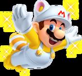 Invincibility Raccoon Mario - New Super Mario Bros 2