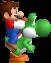 Mario and Yoshi Sprite