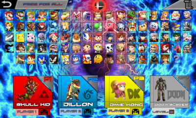 SMASH COMBAT ROSTER