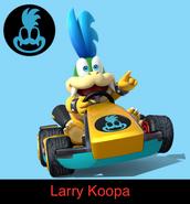 Larry Koopa in Mario Kart 9
