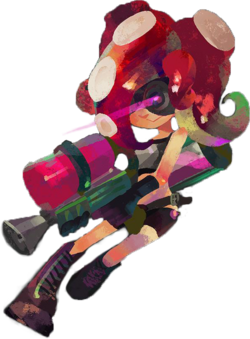 Octoling transparent