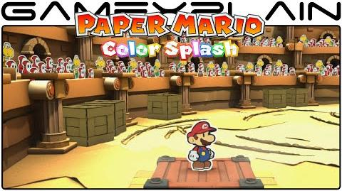 12 Minutes of Paper Mario Color Splash - Massacre at The Golden Coliseum (Direct Feed - PAX West)