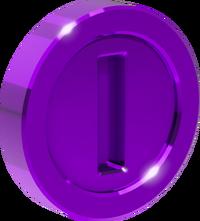 3D 3 purple