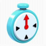 Blue Clock Artwork - Super Mario 3D World