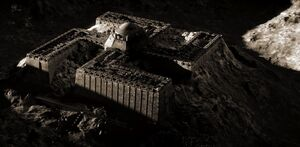 Iron Sky - Nazi fortress on the moon - Swastika building