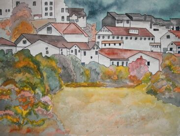Landscape-city-drawing