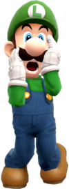 Luigi's Mansion pose