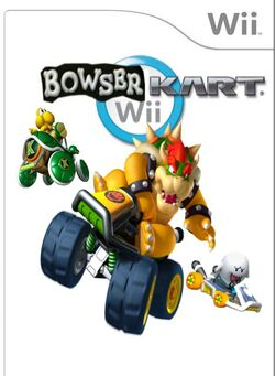 Bowser Kart wii Cover