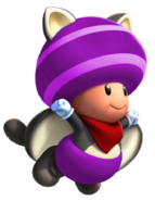 Flying Squirrel Purple Toad