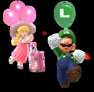 LuigiPlayingPeachBalloonWorld