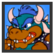 JSSB Character icon - Blue Bowser
