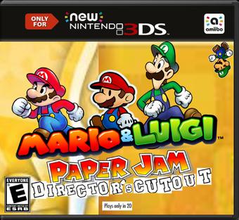 Mario Luigi Paper Jam Director S Cutout Fantendo Nintendo