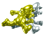 Gold Mario and Silver Luigi (HD)