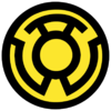 Yellow lantern corps symbol fill by mr droy-d613gr4