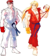 Ryu and Ken Street Fighter Alpha Spirit ASSB