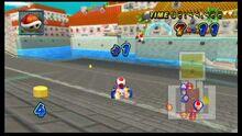 Toad battling on Wii Delfino Pier