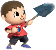 0.7.Red Villager holding up his Shovel