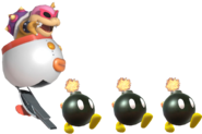 1.7.Roy Koopa sending out Bob-Omb