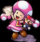 Toadette - Mario & Luigi Paper Jam