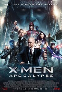 X Men Apocalypse UK 2016 Poster
