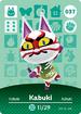 Ac amiibo card kabuki