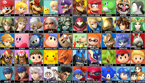 Super Smash Bros. Violet Sunset Default Roster