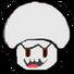 Paper Boo Mushroom