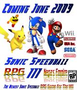 Sonic Speedball RPG III Poster