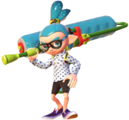0.10.Teal Inkling Boy Holding his Roller over his shoulder