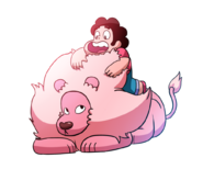 Steven universe steven and lion by nopplesaregreat-d87o8vt