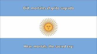 Argentine National Anthem (ES EN lyrics) - Himno Nacional Argentino (letra)