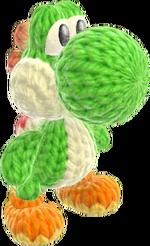 Yoshi's Woolly World design - Green Yoshi