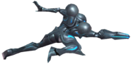 0.5.Dark Samus striking forward