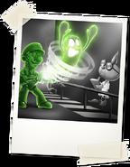 Gooigi catching a ghost