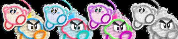 Yarn Kirby and Prince Fluff
