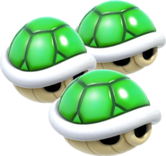 Triple Green Shell Artwork - Super Mario 3D World