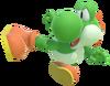 1.2.Green Yoshi's flying kick