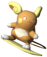 2.3.Alolan Raichu preparing to surf