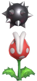 0.7.Piranha Plant Blowing up a Spiked Ball