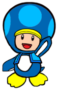 2D Penguin Blue Toad