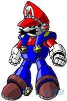 Mecha Mario by Kryptid