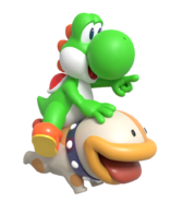 Yoshi and poochy render by nintega dario dd3bbqd-pre