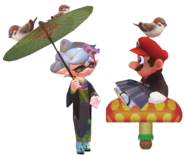 Mario and Marie with Birds